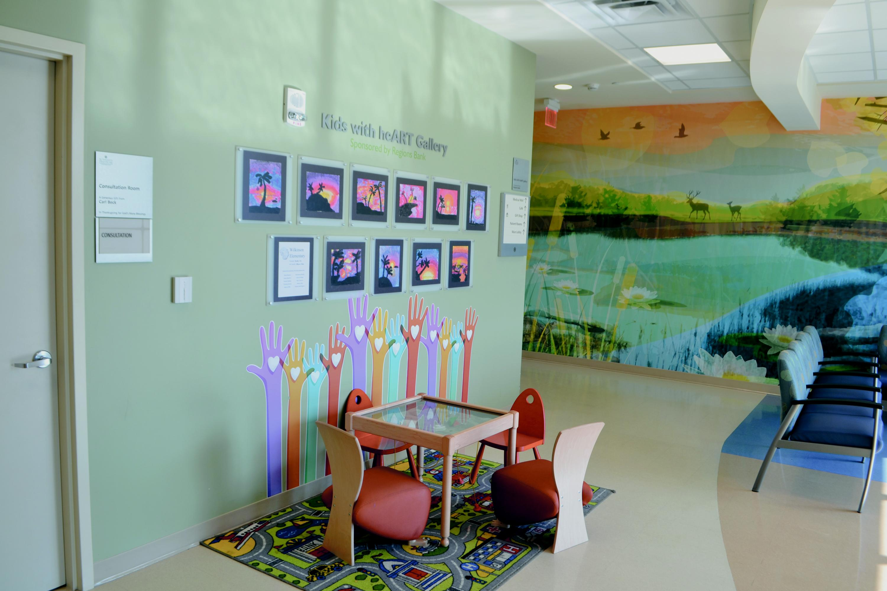 Powerful graphics add warmth to healthcare settings